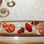レインドロップ赤い果実とマロンクリーム カシスシャーベット