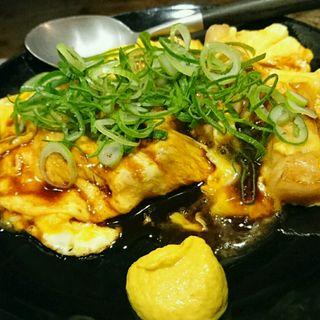 国産豚のロースステーキを使ったとん平焼き(お好み吉田)