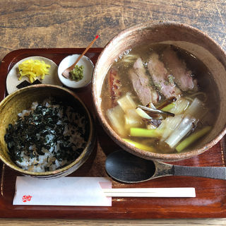 鴨なん➕ジャコ山椒ご飯(三佳 (みよし))