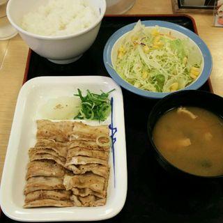 豚バラ焼肉定食(松屋 鹿島田店)