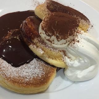ティラミスパンケーキ(幸せのパンケーキ 銀座店)