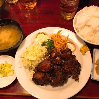 鳥のから揚げ定食(レストラン喫茶 タクト )