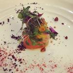 真鯛とスモークサーモンのロートロ 爽やかな柑橘ヴィネグレット