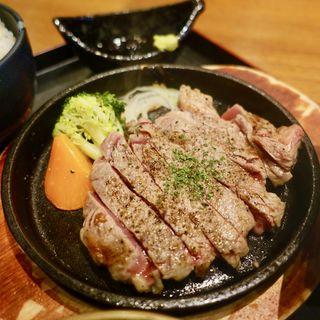 リブロースステーキ定食(たこ焼き 創作バル OCTO オクト)