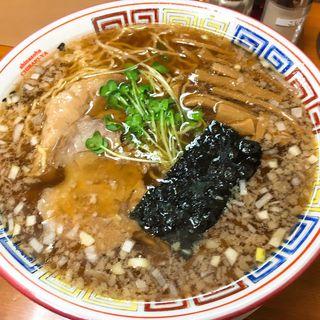 骨付焼豚そば醤油大盛(ちばき屋)