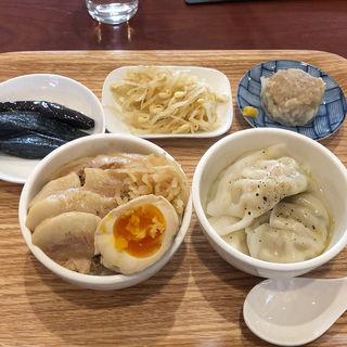ルーローファンと水餃子のセット(How bao you)