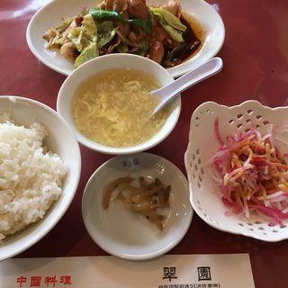 Aランチ、キャベツとピーマンの辛味噌炒め(翠園 (スイエン))