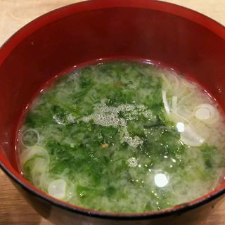 海海苔の味噌汁(磯丸水産川崎駅前店)