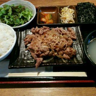 牛ネギ塩定食(肉増し)(永秀 )