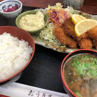 カキフライ定食(おうぎ亭 )