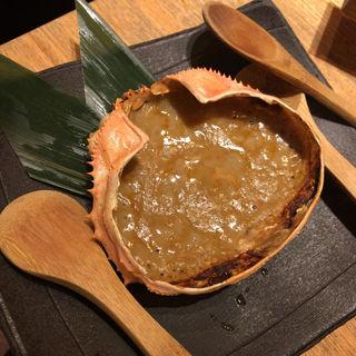カニ味噌の甲羅焼き(なかめのてっぺん 丸の内 )