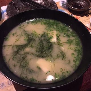 手造り豆冨と球磨川のアオサの味噌汁(みはな水産 )
