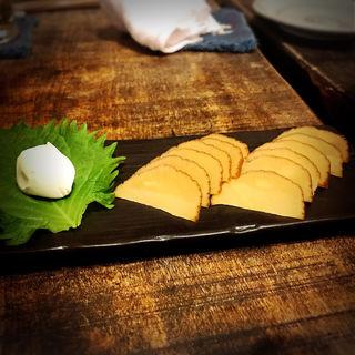 いぶりがっこ(いか玉焼と串カツ マハカラ (MAHAKALA))