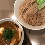 海老みそ肉と玉子入りつけ麺