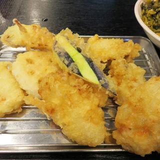 かき天定食(天ぷら定食 ながお )