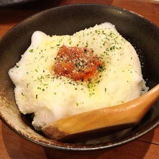 明太子パルメザンチーズのたまごかけご飯(酒肴 かおりぐさ)