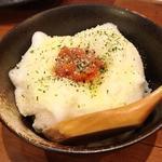 明太子パルメザンチーズのたまごかけご飯
