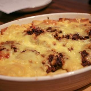 熟成肉とあおばた豆のラザニア(格之進Neuf)