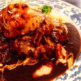 ハンバーグ定食(洋食屋かごしま )