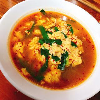 辛麺(ちぢれ麺or韓国麺)小辛(3倍)(辛麺屋 司 )