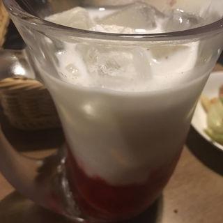 いちごミルク(びっくりドンキー 神戸大蔵谷店 )