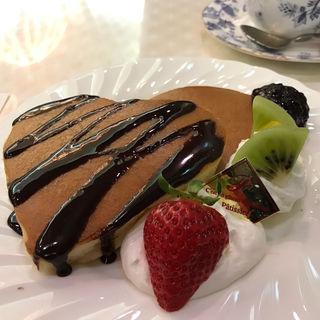 バレンタインホットケーキセット(純喫茶 アメリカン)