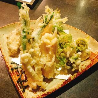 筍と春野菜の天ぷら(和酒和食 恵比寿 黒帯 )