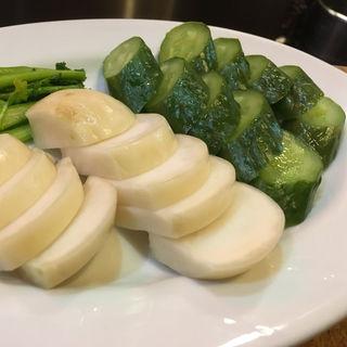 ぬか漬け(カブ、胡瓜)(弁慶)