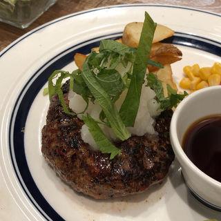 塾成牛おろしハンバーグランチ(肉が旨いカフェ NICK STOCK 横浜ポルタ店)