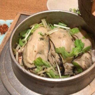 かき釜めし(釜飯と串焼き 麻鳥)