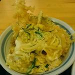 海老・野菜天とじ丼