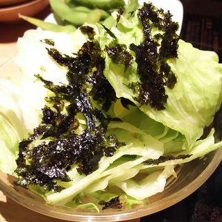 夕採れレタスのチョレギサラダ(しゃぶしゃぶ温野菜 ミューザ川崎店)