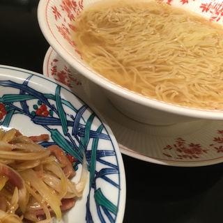 細切りチャーシューと葱入りつゆそば(赤坂璃宮 銀座店 (アカサカリキュウ))