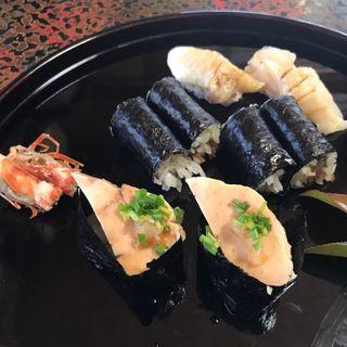 あん肝と本ミル貝(陸女鮨 )