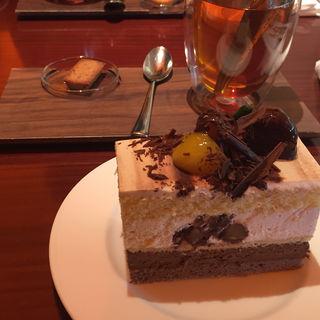 ケーキセット ほうじ茶ケーキ(ピエール)