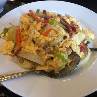 叉焼と卵の炒め物(ランチ)(知味軒)