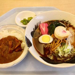 ラーメン・カレーセット(NTT東日本札幌病院 食堂)