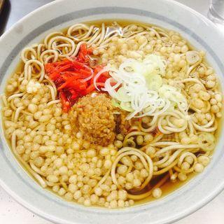ピリ辛肉ミンチそば(爽亭 上野駅7・8番線ホーム店)