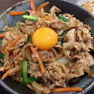 スタミナ丼(肉屋食堂 たけうち)