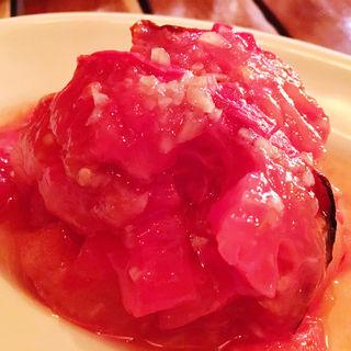 焼きトマトの冷製マリネ(ワイン食堂 久)