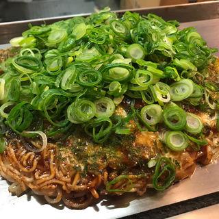 肉玉そば+ネギ(かさねがさね)