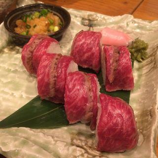 黒毛和牛たたきの棒寿司(まいど 本町店 )