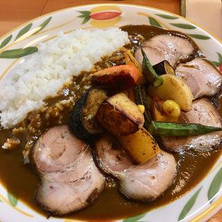 野菜カレー+チャーシュー L(クミン )
