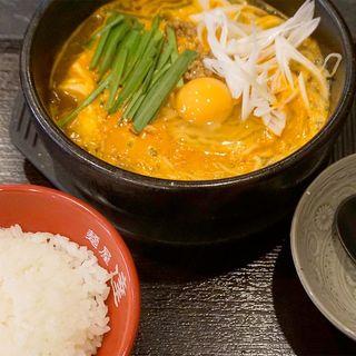 スンドゥブラーメン ライスセット(麺屋 達 (めんや たつ))