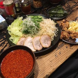 廣島つけ麺(冷)特 唐揚げセット(廣島つけ麺本舗ばくだん屋 名古屋店)