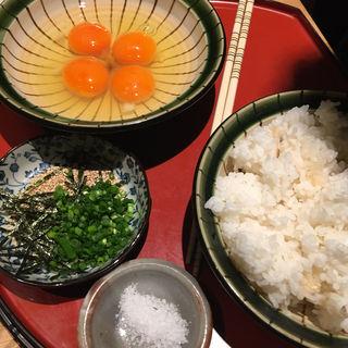 純系名古屋コーチン卵雑炊(水炊き吟醸もつ鍋 由乃)