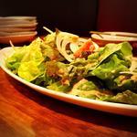 玉ねぎドレッシングのサラダ