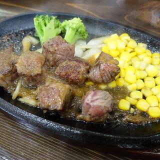 サイコロステーキランチ 特製オニオンソース(ライス付)(洋食とステーキ 健)