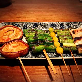 野菜5串コース(とり方 (とりほう))