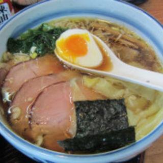 叉焼ワンタン麺(○政 (まるまさ))